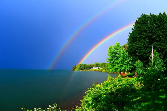 Double Rainbow by Rachel Connor 700x467
