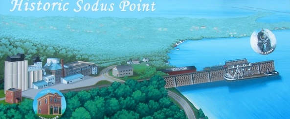 Historic Sodus Point Mural 600x261